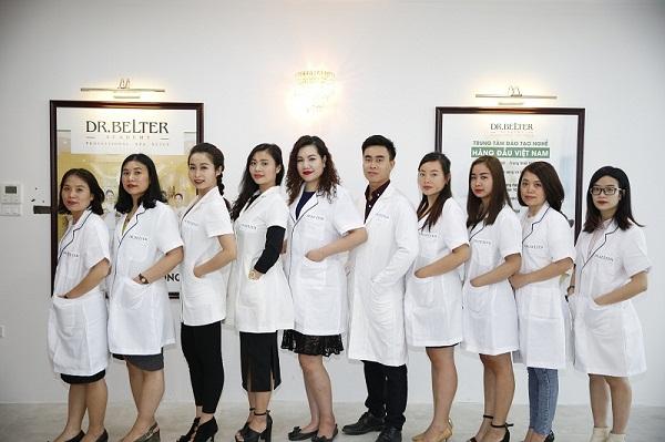 Lớp học chăm sóc da chuyên nghiệp tại trung tâm đào tạo spa Dr Belter