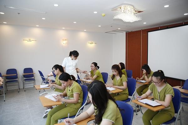 Cơ sở vật chất tại trung tâm dạy nghề spa Dr.Bleter